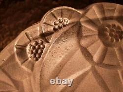 Feasted Vase For Chandelier Suspension Lamp Mushroom Art Deco Signed Degué