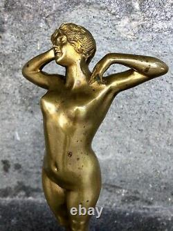 Female Bronze First Frisson Louis Oury (1867-1940)