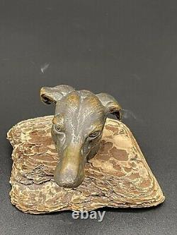 Former Automobile Mascot Costume Art Deco 1920 Bronze Levary Head Signed H. Payen