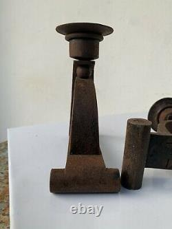Former Chandelier Bougeoir Iron Forge Art Deco Sign Charles Piguet Modernist