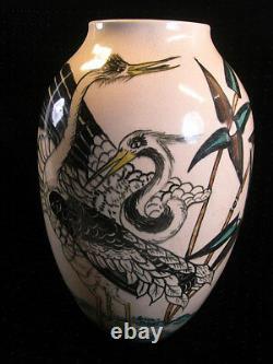 Former Grand Vase Art Deco New Bird Crane Heron Sign