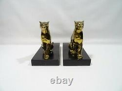 Former Greenhouse Book Art Deco Panthere Signs Tedd Animal Sculpture