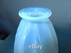 Former Opalescent Glass Vase Signed Sabino Paris France Art Deco Art Nouveau