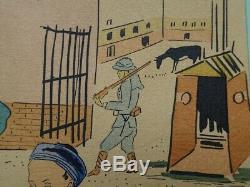 Foujita The Original Color Lithographie Player Signed # 1928