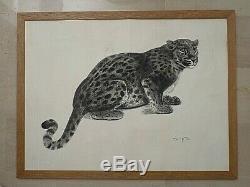 G. L. Guyot / Panther Vintage Art Deco / Signed