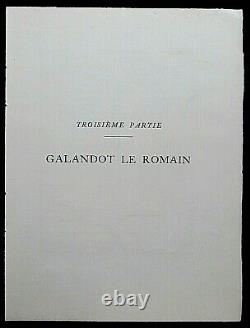 George Barbier Galandot The Roman Engraving Stencil Original Edition 1928