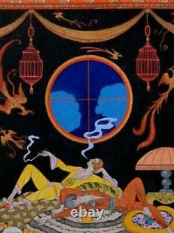 George Barbier La Laziness The 7 Deadly Sins Stencil Original Edition 1925