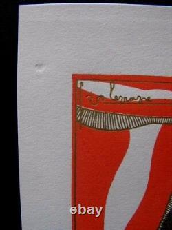 Georges Lepape Stencil Enhanced Gold 1926 No. 300 Exp. Les Ambassadeurs Restaurant