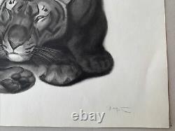 Georges Lucien Guyot Gravure Art Deco Tigre Panthere Tiger Esprit Paul Jouve