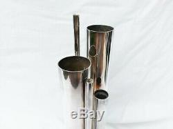 Gio Ponti And Christofle. Organ Al Vase In Silver. Gallia