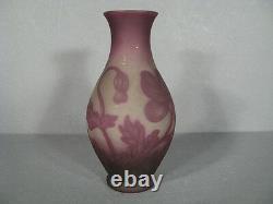 Glass Pte Vase Signed Vessiere Nancy / Art Deco Vase Decor Poppies