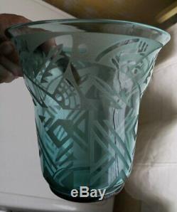Glass Vase Daum Nancy France Signed Art Deco / Glass Vase Art Deco Daum