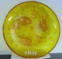 Grand Cup Glass Mold Fish Japanese Art Deco Sabino Etling Verlys Sign