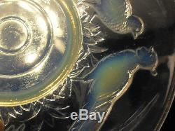 Grand Cup Opalescent Glass Mold Art Deco Pheasants Etling Sabino Verlys Sign