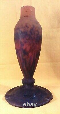 Grand Pied De Lampe En Pate De Verre Art Deco Signed (muller Frs Luneville)