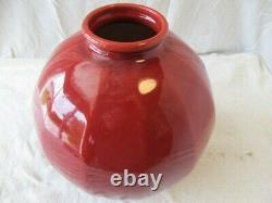 Grand Vase Ceramique Art Deco To Facettes Signed Paul Milet Sevres
