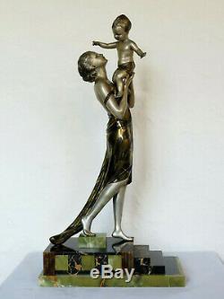 Great Statue Art Deco Signed Uriano (cipriani) 1930
