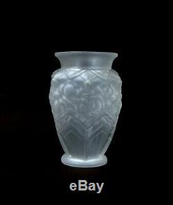 Great Vase Muller Freres Luneville, Time Art Deco, Signed And France