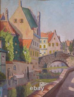 Henri Rossels (1888-1950) Hst 1945 Bruges Brugge Belgian School Belgische School