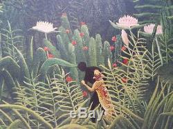 Henri Rousseau Virgin Forest Landscape Lithographie Original Signed # 1976