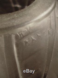 Hettier Vincent & Lamp Art Deco Bronze & Tulip Glass Pressed Signed In 1930