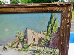 Hurard Joseph Hurard Joseph, Oil On Panel, Aveyron, Ocean Road Green