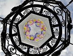 Important Art Deco Chandelier Ejg (j. Gauthier) Molded Glass Signed Robert J. 1920