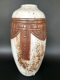 Important Vase Verre Verre Art Deco Signed Legras Galled Lalique Daum 20th