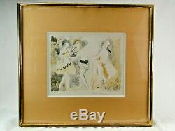 In Lithography Era Art Deco Signed Marie Laurencin La Ronde