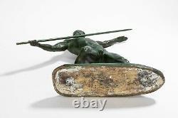 Javelin Thrower. Bronze Art Deco By Guero. Circa 1940