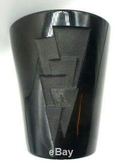 Jean Luce Art Deco Vase-engraved Sandblast-signed-daum, Muller, Thuret, Argy