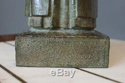 Kerleroux & Susse Foundry Breton Dressed Bronze Art Deco Sign