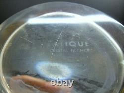 Lalique France Ancient Carafe Crystal Blow Modeled Flame Signed Art Deco