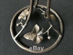 Lamp Art Deco Iron Shell Pet And Glass Signed Deross Ross Deross