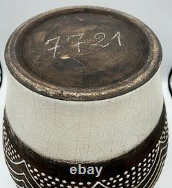 Large Vase Art Deco Ceramic Enamelled Unsigned Dlg By Jean Besnard