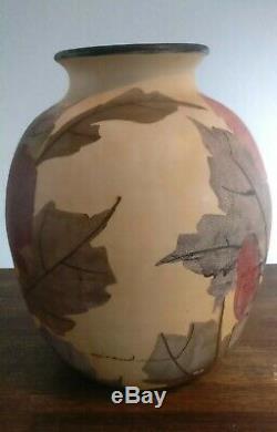 Large Vase Ceramic Vallauris Signed Louis Giraud Art Deco Height 33 CM