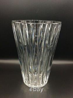 Large Vase In White Blown Crystal Cut By Saint-louis Art Deco