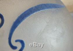Legras Glazed Vase Glazed Blue Art Deco Signed