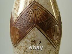 Legras Large Ovoid Vase Ovoid Art Deco Decoration Cleared With Acid Signed