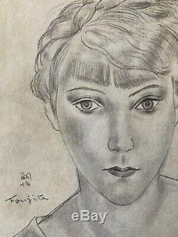Leonard Tsuguharu Foujita Engraving Portrait Of Young Girl Art Deco 1930