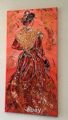 Linard Peinture Toile Table Camargue Arlesienne 40x80cm