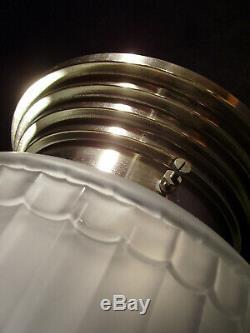 Lorrain Nancy Grand Ceiling Art Deco Skyscraper Glass Pressed Signed In 1930