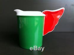 Lot 2 Pots Milk Signed Porcelain Jean Charles Castelbajac