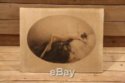 Louis Icart (1888-1950) Original Art Deco Naked Woman Burning In 1928 Signed Erotics Eve