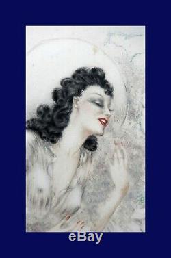 Louis Icart Art Deco The Glycines Aquatint 1940