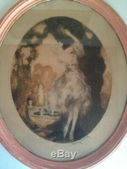 Louis Icart Great Fidelity Color Lithography Original Art Deco Woman