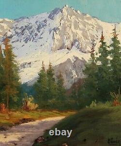 Lucien Quenard, Painting, Mountain, Meije, Alps, Landscape, Oisans, Ecrins, Isère