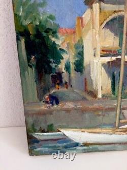 Ludo Chauviac 1894-1978 Oil Canvas Tableau Palavas Hotel Paris Montpellier
