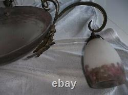 Lustre Glass Paste Signed Muller And Brothers Luneville