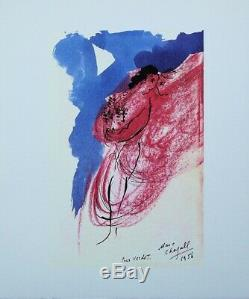 Marc Chagall The Original Signed Lithographie Love, Dedication To Verdet